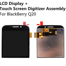 New LCD Display Touch Screen Digitizer Panel Glass Lens Sensor Assembly For BlackBerry Q20 Replacement Repair Part FreeShipping