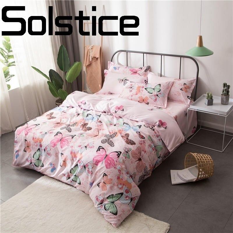 Solstice Textile de Maison À La Mode Plaid Peau-amical Accueil Textile Aloe Coton Feuille Housse de Couette Taie D'oreiller Literie 3/4 pcs
