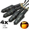 4PCS 12V LED Motorcycle Bike Turn Signal Indicator Light Turning Lamp For Sawasaki/Honda/Suzuki
