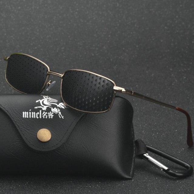 MINCL/ Vision Care Pin Hole Sunglasses Men Women Anti