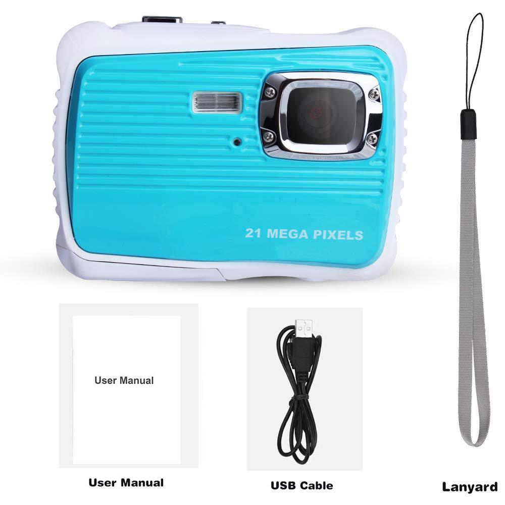 Caméra numérique étanche enfants caméra numérique 21MP HD caméra d'action sous-marine caméscope 2.0 pouces écran LCD 8X Zoom numérique - 4