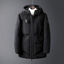Мужская теплая зимняя парка с капюшоном и воротником, верхняя одежда, куртки для мужчин 150