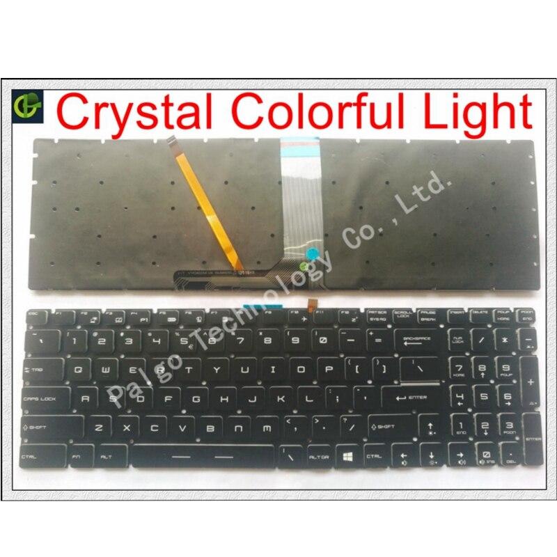 New English Crystal RGB backlit colorful Keyboard for MSI GT63 GT63VR GT73EVR GX62 CR62 CR72 CX72