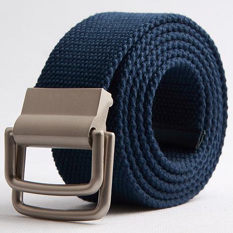 2014 Hombres de la Lona Cinturones de Alta Calidad de Male Correa Cinturón Ancho Cinturón de hebilla de Doble bucle