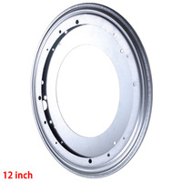 1Pc Full Ball Bearing Swivel Plate Lazy Susan Turntable 12 Inch TV Rack Desk Tool Free