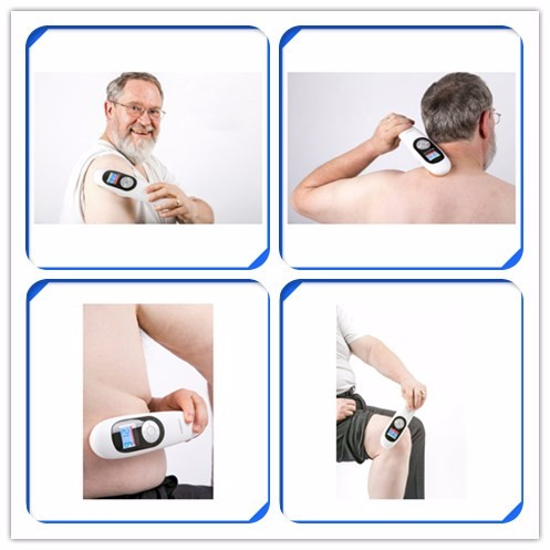 physical therapy equipments 808nm+650NM 2 in 1 laser pain relief home laser device laspot body massager tens unit neck massager pain relief laser therapy device lower back pain relief machine with 650nm and 5 probes in one device