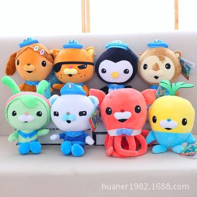 30cm United Kingdom Anime octonauts toys captain Barnacles kwazii peso shellington Dashi Tweak professor Inkling plush doll