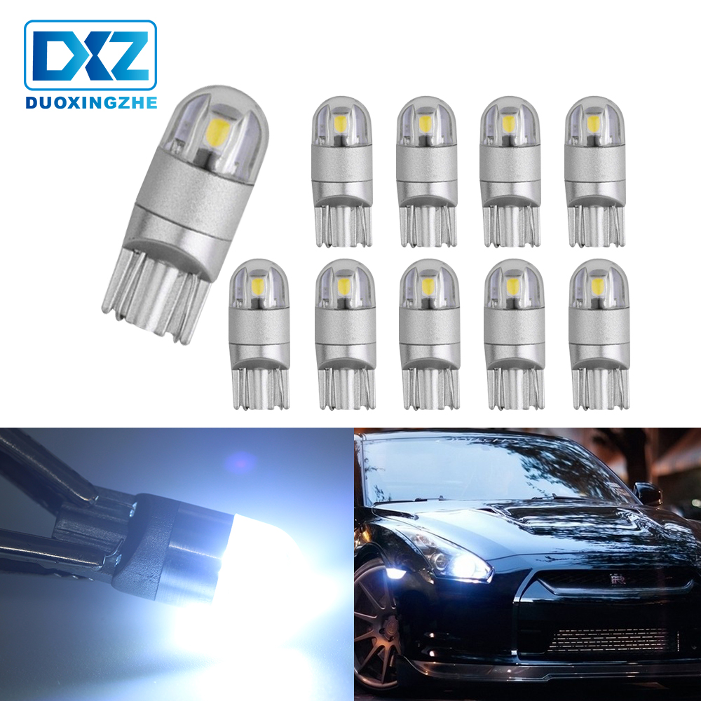 10 x T10 Wedge COB 1-SMD LED Super White Car Lights Lamp Bulbs 194 168 2825 W5W
