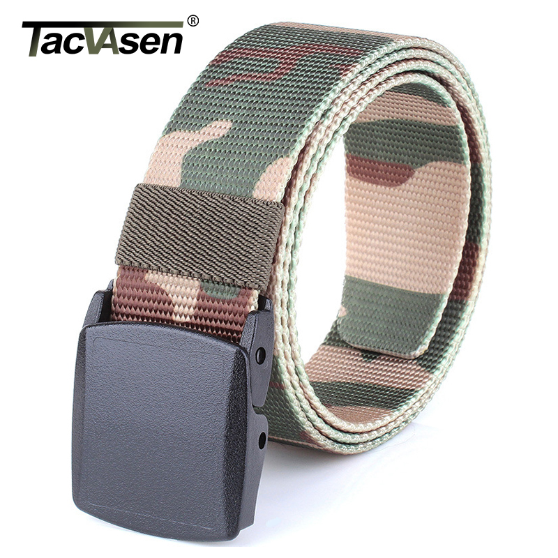 TACVASEN Men SWAT Equipment Mens Camouflage Tactical Belts Army Paintball Nylon Belt Military Belt Combat Waistband TD-BLL-009