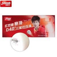 10 мячей новейший DHS 3-Star Dingning D40 + мячи для настольного тенниса новый материал Пластиковые Мячи для пинг-понга