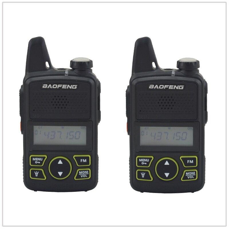 2PCSx BF-T1 Walkie Talkie UHF 400-470MHz 20CH 1W Mini Small Portable Ham FM CB Radio Handheld FM Transceiver With Earpiece