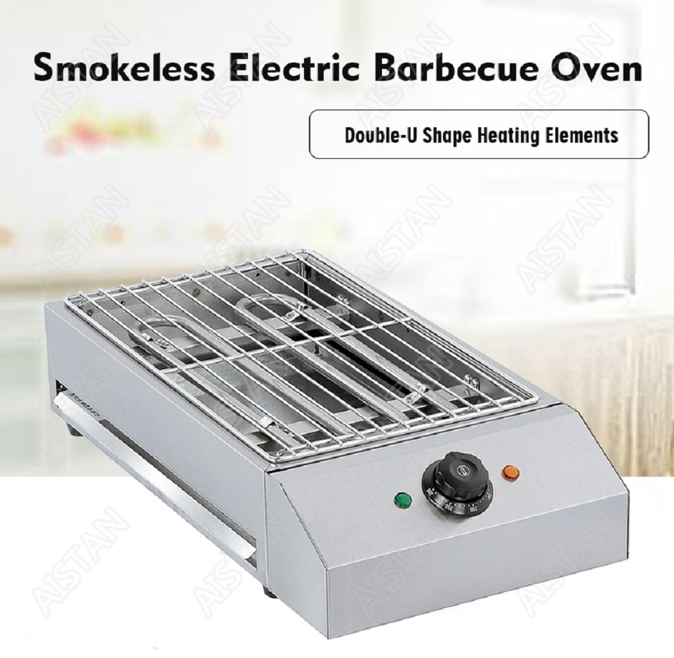 EB280 Electric Smokeless Barbecue Oven Grill for bbq machinery Stainless Steel High Power 1