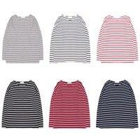 Women Basic Striped T Shirt 2017 Autumn Winter Long Sleeve T Shirt Female Tee Tops Girls