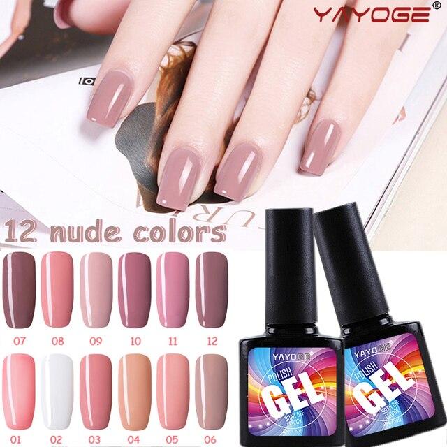 Elegante serie Desnudo 10 ml Esmalte de Uñas de Gel 12 Colores UV ...