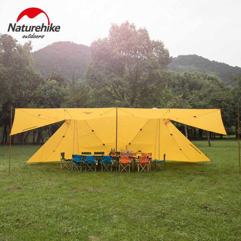 Naturehike kamp çadırı e n e n e n e n e n e n e n e n e n A Pagoda 8 kişi güneş barınak 40D silikon açık yağmur geçirmez büyük uzay aile güneş barınak çadır