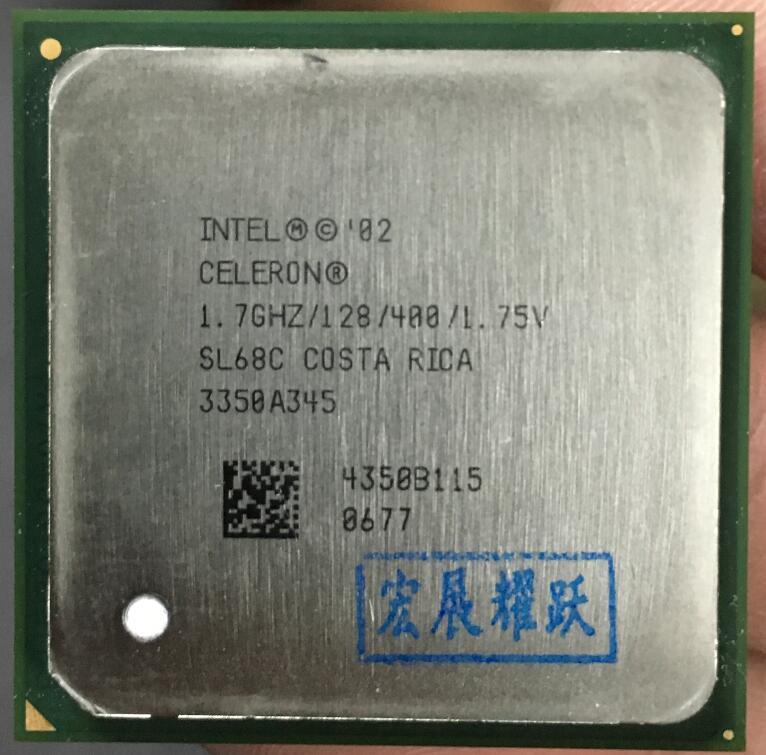 Intel Celeron 1.7 GHz LGA478 LGA 478 Socket 478 Intel  Celeron  Processor 1.70 GHz, 128K Cache, 400 MHz FSB Desktop CPU
