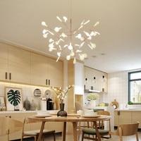 Modern Art Tree Leaves Led Dining Room Pendant Light Nodric Designer Studio Light Fixtures Bar Coffee