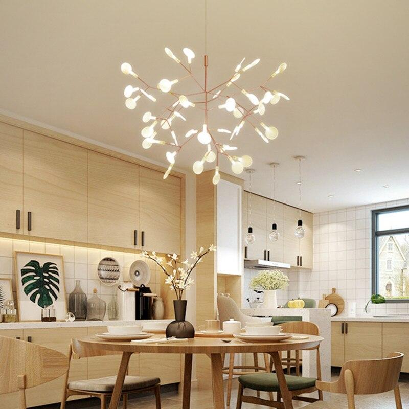 Moderne Kunst Baum Blatter Led Esszimmer Pendelleuchte Nodric