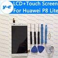 Para huawei p8 lite touch screen + display lcd 100% novo digitalizador substituição do painel de vidro para huawei ascend p8 lite 5.0 telefone''