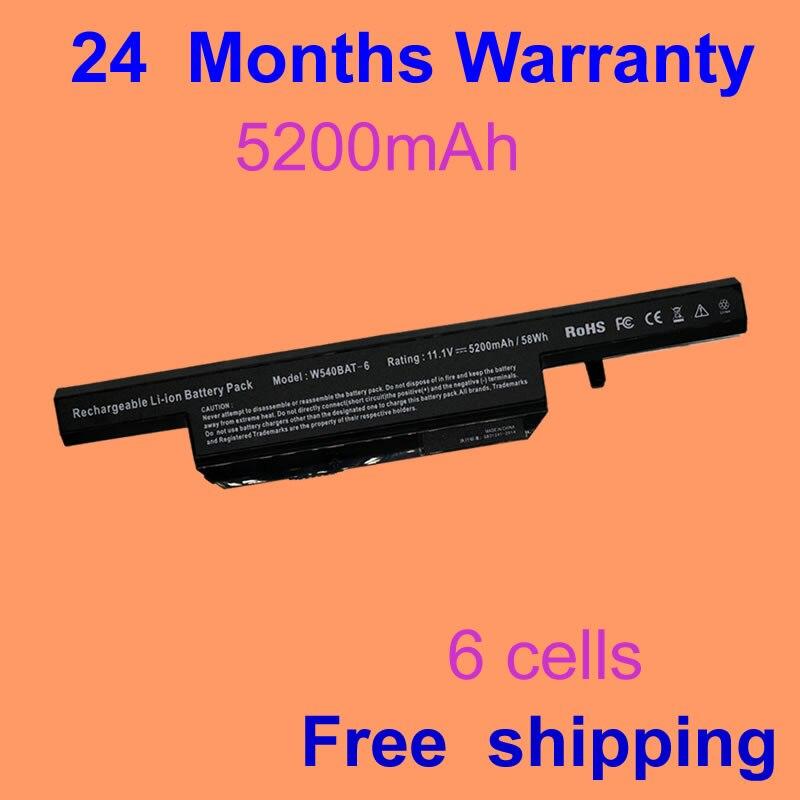 JIFU laptop battery 6 87 W540S 4U4 6 87 W540S 4W41 W540BAT 6 FOR CLEVO W155U