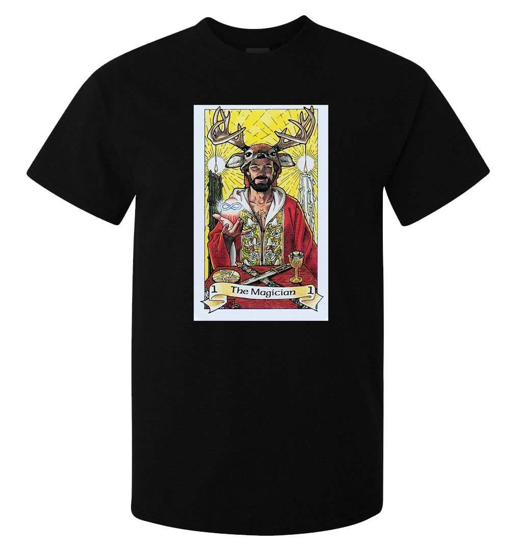 The Magician Tarot Card Art Logo men's (woman's available) t shirt black  Cool Casual pride t shirt men Unisex New Fashion-in T-Shirts from Men's