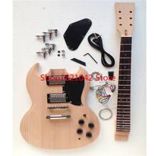Костюм! СГ электрогитары джип полуфабрикатов тела шеи DIY пользовательские гитары Китай