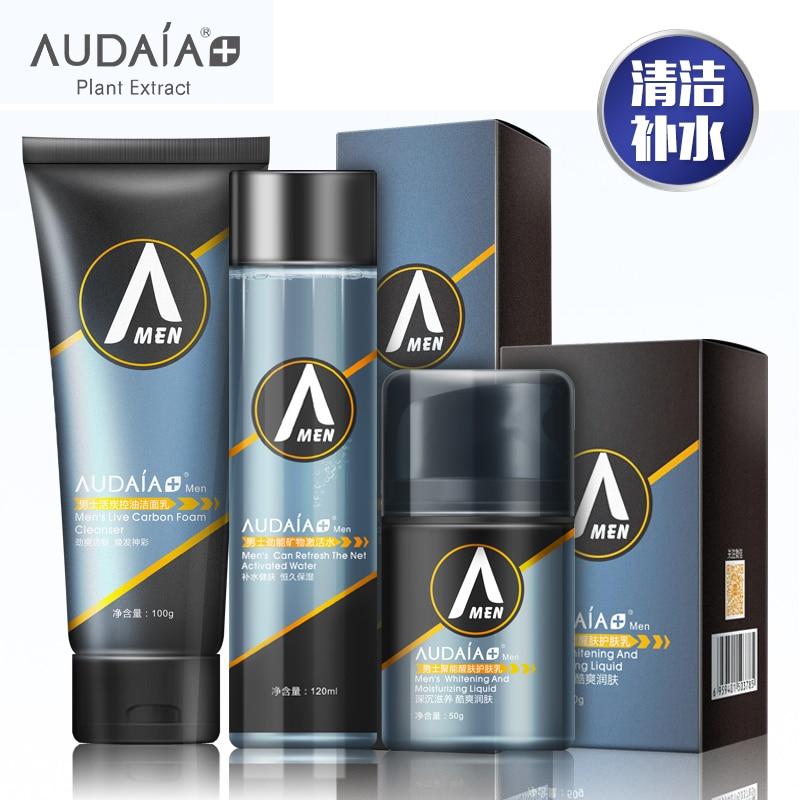 Face Care Sets Men Mineral Cleanser Renew Toner Emulsion Makeup