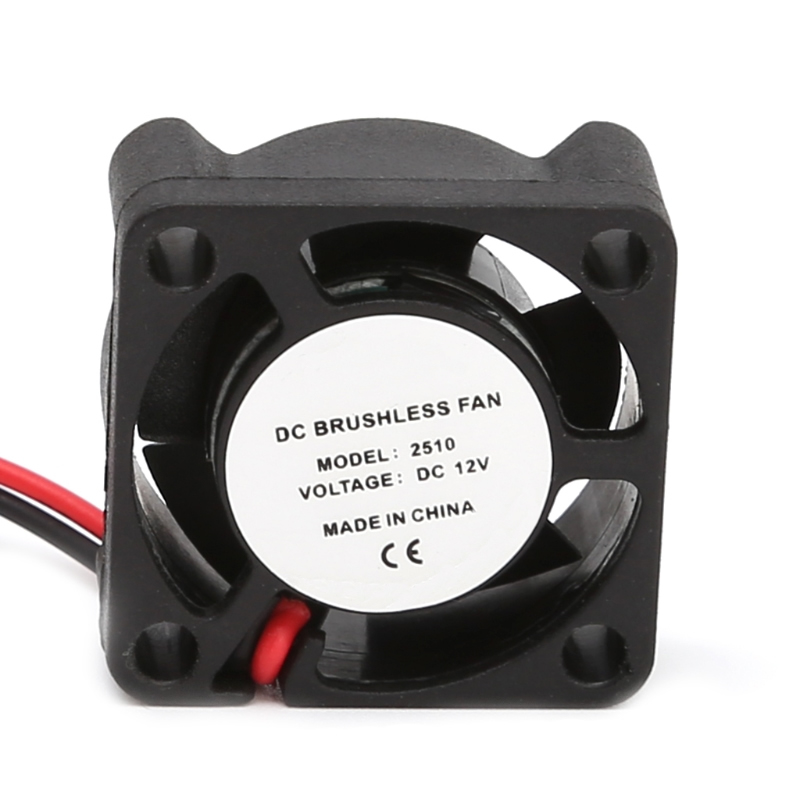 DC 12V 25*25*10mm Small 2-Wire Brushless Cooling Fan 2510S For 3D Printer Parts - L059 New hot delta 12038 12v cooling fan afb1212ehe afb1212he afb1212hhe afb1212le afb1212she afb1212vhe afb1212me