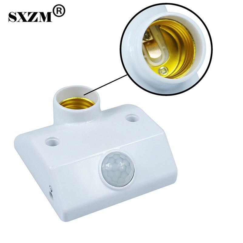 E27 Lamp Base Socket PIR Infrared Motion Sensor LED Light Lamp Holder Motion Sensor Switch For Lamp Socket Switch