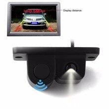 Nuevo 2in1 LCD SUV Del Coche para Estacionarse en Reversa Radar y Trasero 120 Gran Angular Cámara Kit Auto de Visión Trasera vista de Copia de seguridad cámara