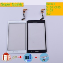 X165 For LG Bello II X150 X155 X165 Touch Screen Touch Panel Sensor Digitizer Front Glass Outer Lens Touchscreen NO LCD touch panel for lg l bello d331 d335 d337 touch screen digitizer sensor glass lens with logo with tracking number