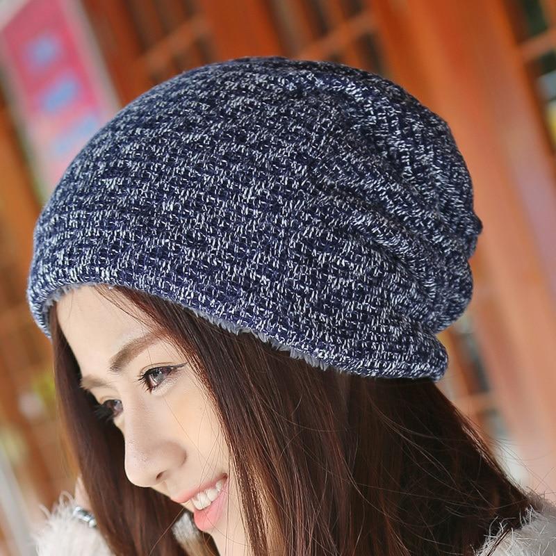 Sombrero de invierno Gorros de piel de punto Gorras cálidas Skullies - Accesorios para la ropa - foto 4