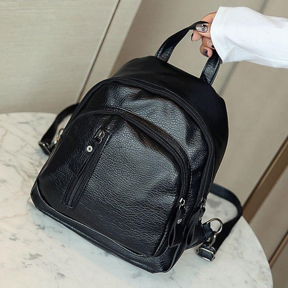 Womenl Multifunction Shoulder Bookbags School Bag Cute Fashion Backpack Youth Leather Backpacks For Teenage Girls Female School