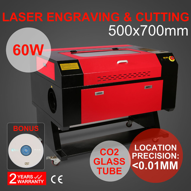 60w Co2 laser gravier maschine Rotary Axis Engrave engraving Cutter