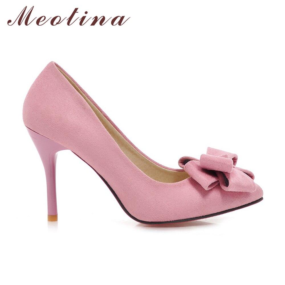 Meotina Últimos Zapatos Mujeres Bombas Primavera Punta estrecha - Zapatos de mujer - foto 4