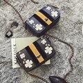 Cecelia Ladies Vintage Envelope bags messenger boston embroidery flowers handbag cross body leather bags