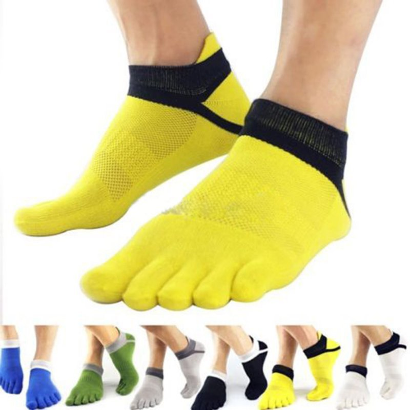 Men Socks Boys Cotton Finger Breathable Five Toe Socks Pure Sock ...