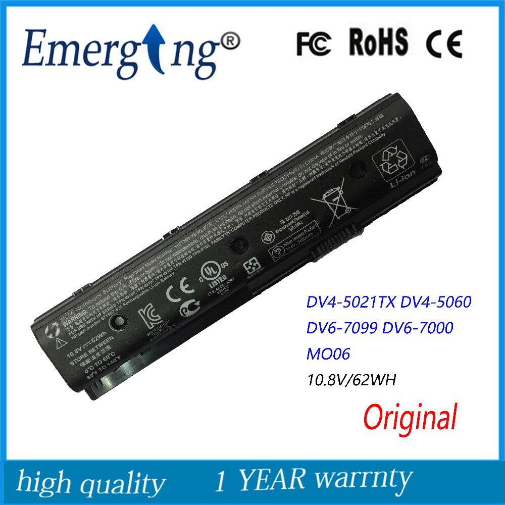 10.8 v 62wh nouvelle batterie d'ordinateur portable d'origine pour hp dv4-5000 dv6 dv6-7000 dv6-7002tx dv6-7099 hstnn-ub3n mo06 mo09
