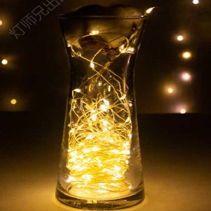 Nuevo 2M 5M 10M luces LED guirnalda luces de hadas impermeables lámpara para la luz de fiesta de boda de Navidad decoración
