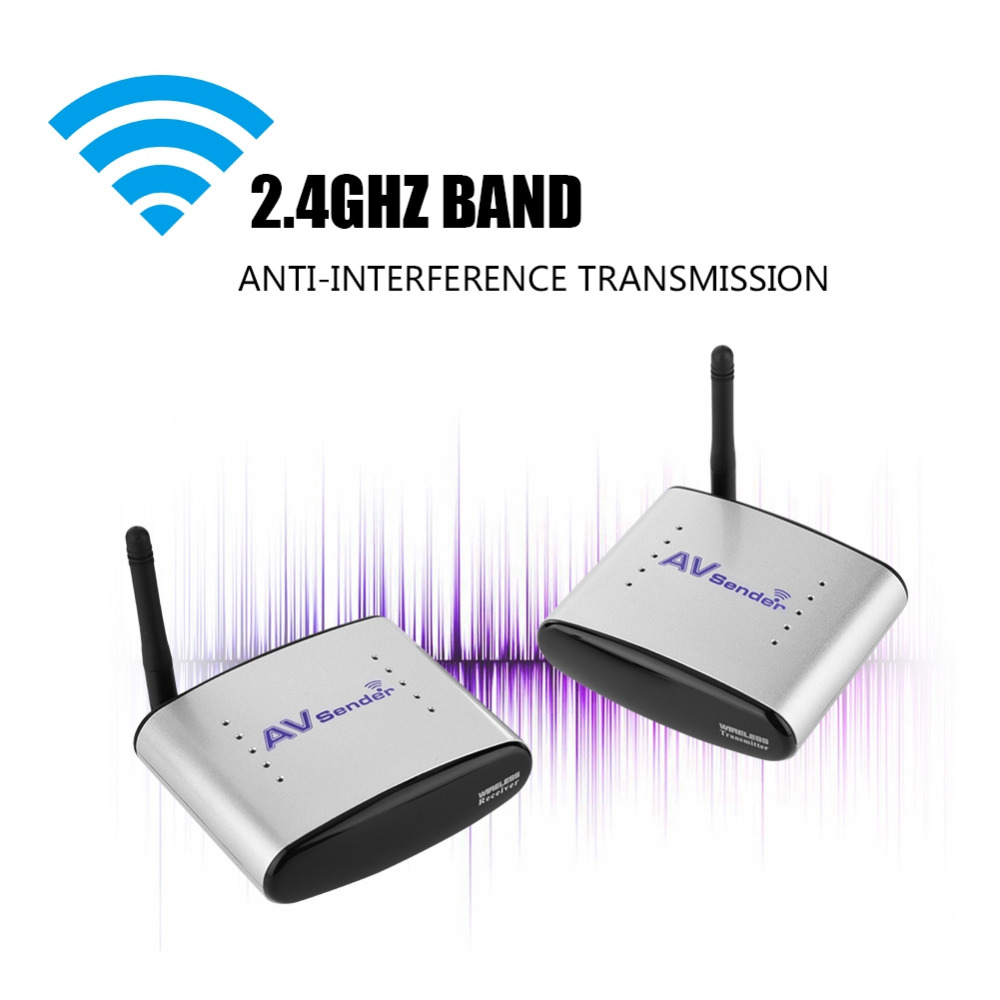 Wireless AV Sender Anti-interference Transmission 150m AV Sender Transmitter Receiver Wireless AV Sender only 6g av sender aomway mini 5 8ghz 200mw 32ch wireless a v transmission module transmitter tx range 3km