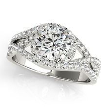 Split Shankj Double Halo Brilliant 2CT Lab Grown Diamond Center Ring Solid 9k Gold Jewelry White
