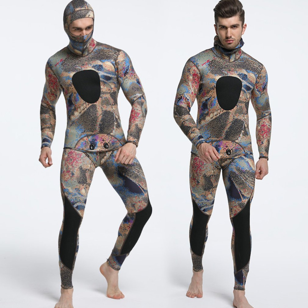 цена TOP 3mm Diving suit neoprene men pesca diving spearfishing wetsuit surf snorkel swimsuit Split Suits combinaison surf wetsuit