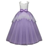 Children Kids dress Girl Bow knot Princess Formal Gown Party Sleeveless Tutu girls o neck cotton Dress prinsessen jurken meisjes