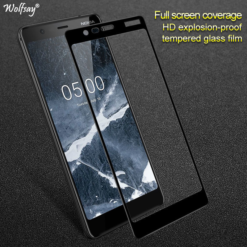 Wolfsay 1PCS For Glass <font><b>Nokia</b></font> <font><b>5.1</b></font> <font><b>Screen</b></font> <font><b>Protector</b></font> Tempered Glass for <font><b>Nokia</b></font> <font><b>5.1</b></font> 2018 TA-1075 Anti-Scratch Protective Film image