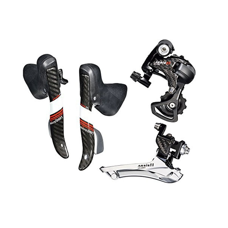 Microshift Carbon Arsis CENTOS Dual Control Levers Road 2*11 Speed Road Bike GroupSet for shimano sram 11 Speed платье без рукавов printio звездные войны последние джедаи