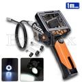 "1280*720P HD Handheld 8.2mm 1M Flex IR Endoscope Camera 3.5"" LCD Monitor LED Flashlight Waterproof Tube Borescope Handle Adjust"