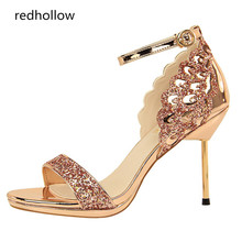 Summer Sandals Women Sexy Thin High Heel Female Fashion Bling Wedding Shoes Sandalia Feminina Open Toe Women Sandals Party Pumps цены онлайн