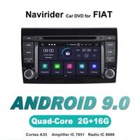Navirider autoradio gps navigation android 9.0 car radio Player for FIAT BRAVO Multimedia dvd stereo bluetooth AUTO accessories