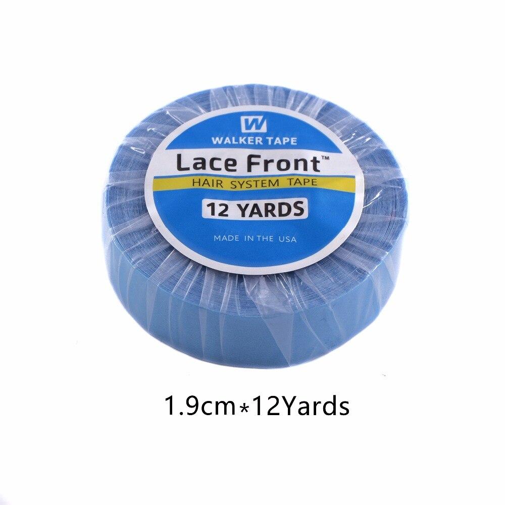 Сильный Синтетические волосы на кружеве Поддержка лента 12 ярдов 1,9 см бисером клей лента для ленты волос парики шнурка ...
