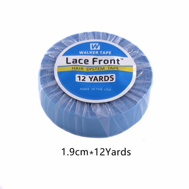 Strong Lace Front Support Tape 12  Yards 1.9cm Beaded Adhesives Tape For Tape Hair Extensions Lace Wigs